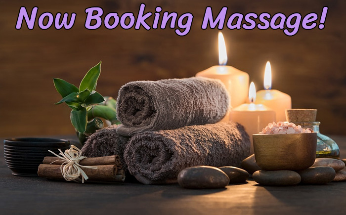 Now Booking Massage!
